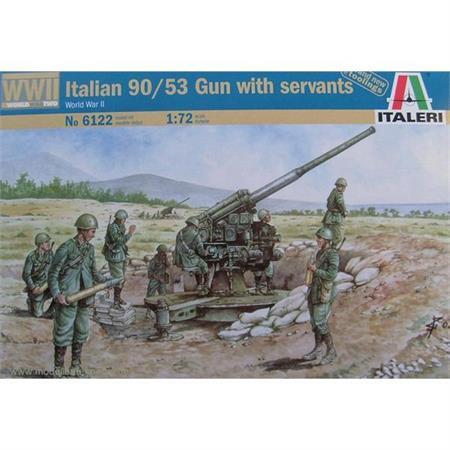 WW2 Italian 90/53 Gun wit Personnel