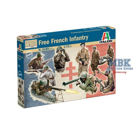 Free French Infantry WWII  1/72