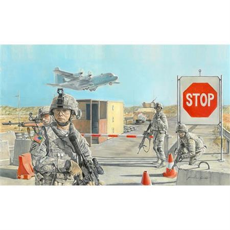 Straßensperre mit US Soldaten