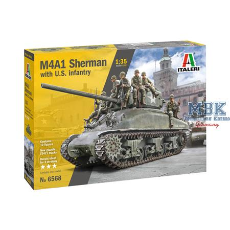 M4A1 Sherman with US Infantry  1/35