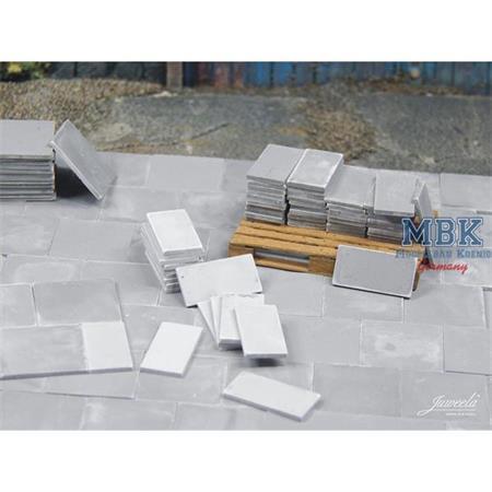 Platten 50x50 hellgrau - 180 Stück