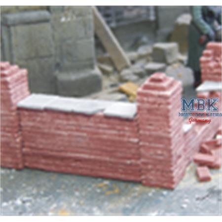 Ziegelmauer / Brick Wall (4 Pieces)