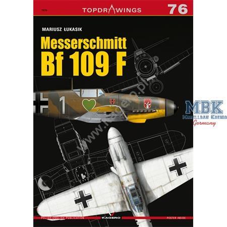Kagero Top Drawings 76 Messerschmidt Bf109 F