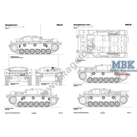 Kagero Top Draw. 97 StuG III A B F F L43 F/8 G