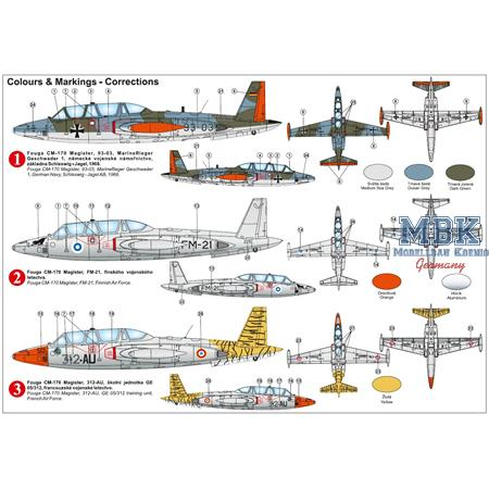"""Fouga CM-170 Magister """"Over Europe"""""""