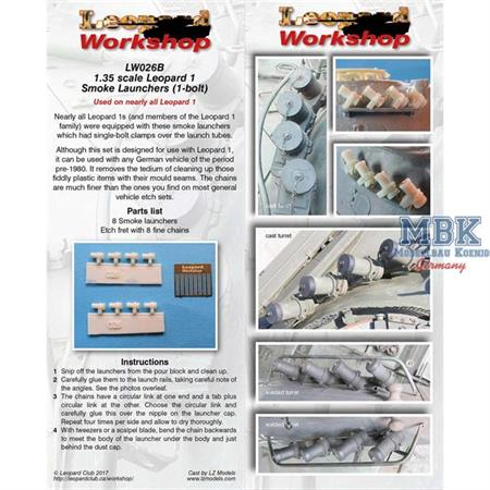 Leopard 1 Smoke Launchers - Nebelwurfbecher