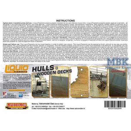 Weathering Set   Hulls and Decks   6x22ml