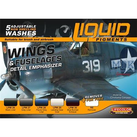 Weathering Set  Wings and Fuselage   6x22ml