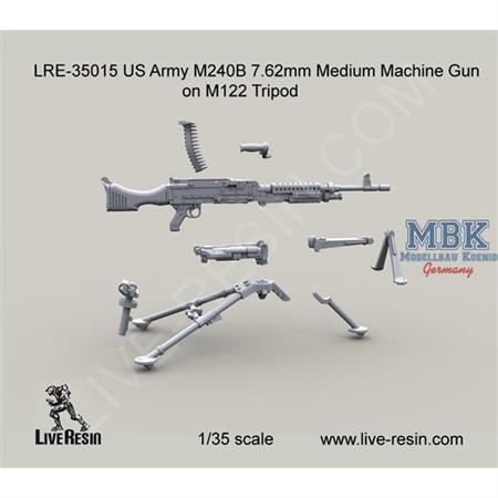 US Army M240B on M122 Tripod