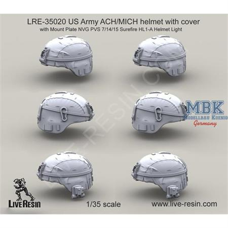 US Army ACH/MICH helmet w/ cover & NVG PVS