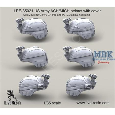 US Army ACH/MICH helmet w/ cover & NVG PVS 7/14