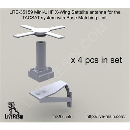 Mini-UHF X-Wing Sattelite antenna