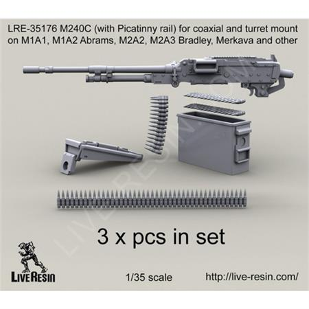 M240C w/ Picatinny rail coaxial and turret mount