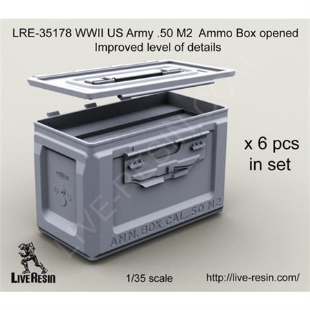 WWII US Army .50 M2 Ammo Box, open