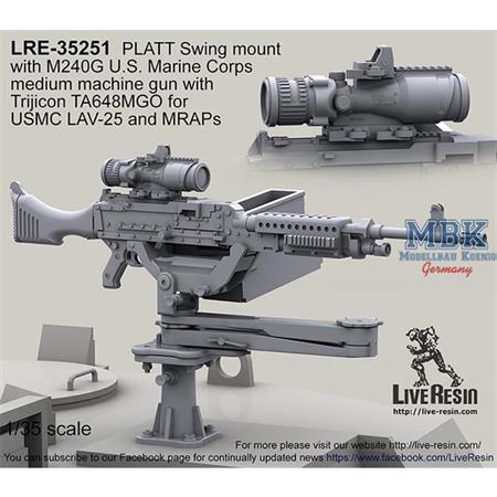 M240G on PLATT Swing mount with U.S.