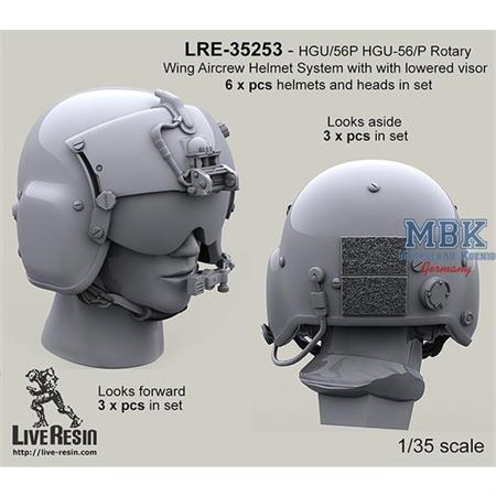 Helmet System with pilot with lowered visors