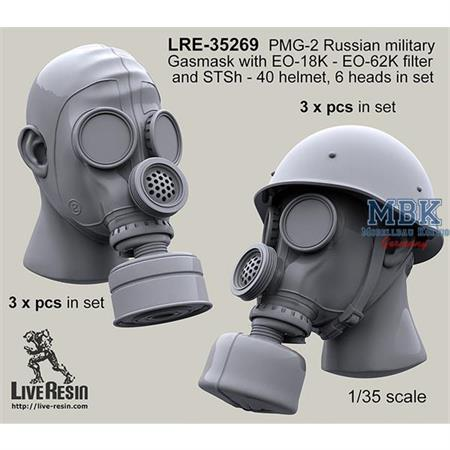 PMG-2 Russian military Gasmask with EO-18K- EO-62K