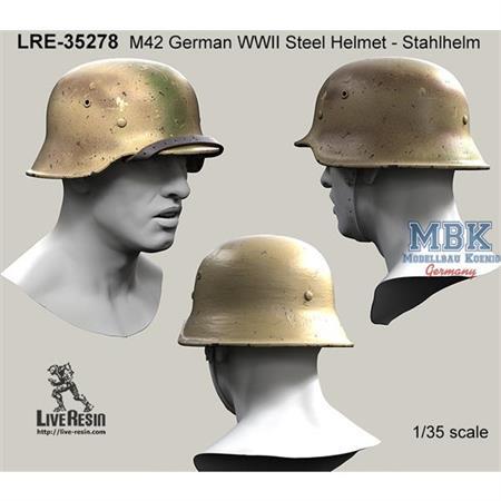 M42 German Stahlhelm 42, classic chinstrap