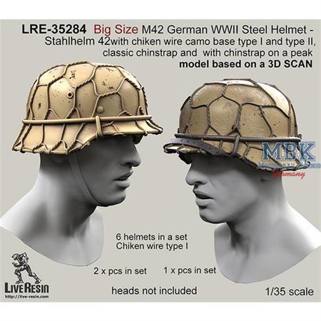 Big Size M42 Helmet wire camo base type I & II