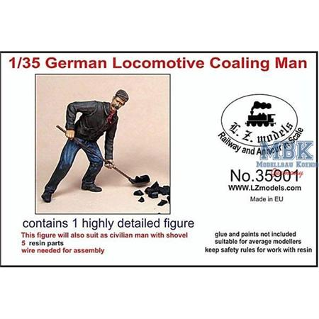 German Locomotive Coaling Man / Heizer