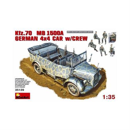 Kfz.70 MB 1500A GERMAN 4x4 CAR w/CREW