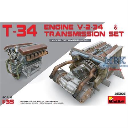 T-34 Engine V-2-34 & Transmission Set
