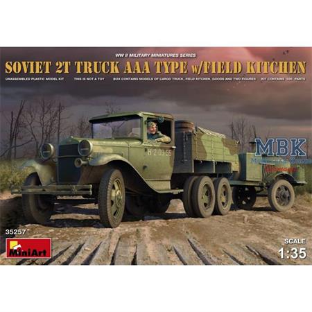 Soviet 2T Truck AAA Type w/Field Kitchen