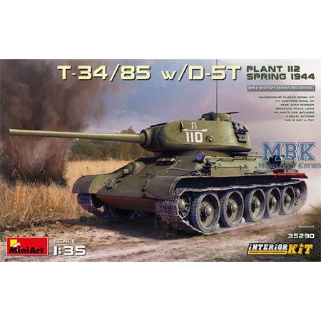 T-34/85 w/D-5T. PLANT 112. SPRING 1944 w/INTERIOR