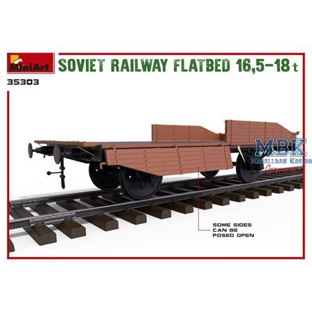 SOVIET RAILWAY FLATBED 16,5-18t