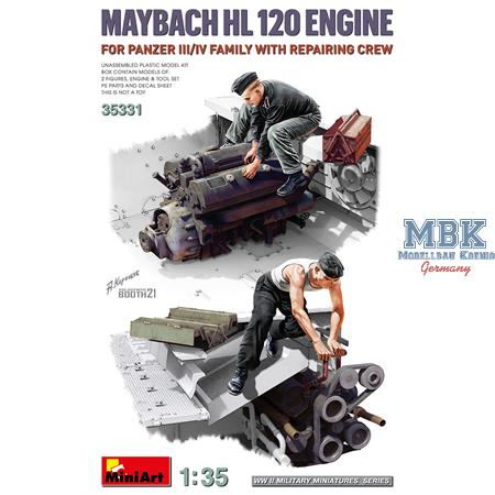 Maybach HL120 for Panzer III/IV w/repair Crew
