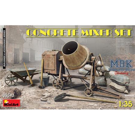 Concrete mixer/ Betonmischer Set