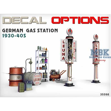 GERMAN GAS STATION 1930s-40s
