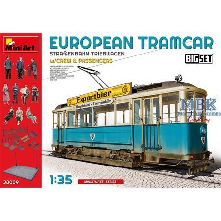 European Tramcar w/ crew & passengers