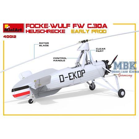 Focke-Wulf Fw C.30A Heuschrecke. Early Production