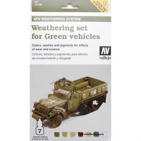 AFV Weathering for green Vehicles Set