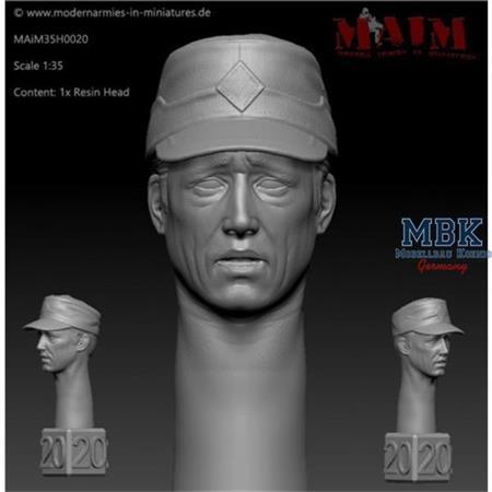 Modern German Head w/Field Cap - Shocked Impress