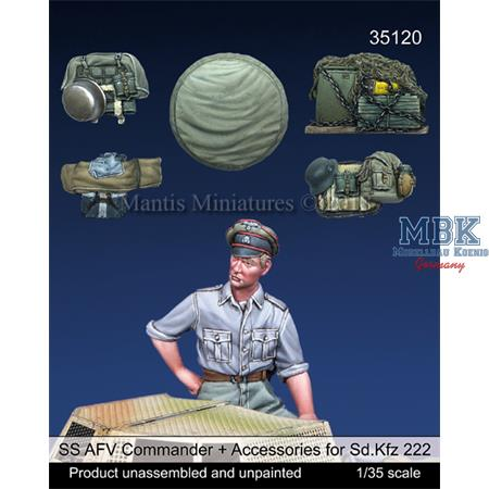 SS AFV Commander + Accessories for SdKfz.222