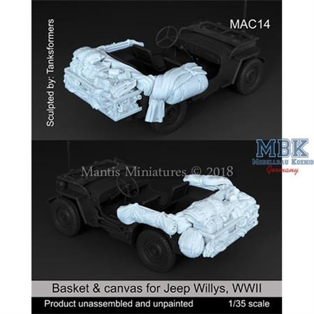 Basket & canvas for Willys Jeep