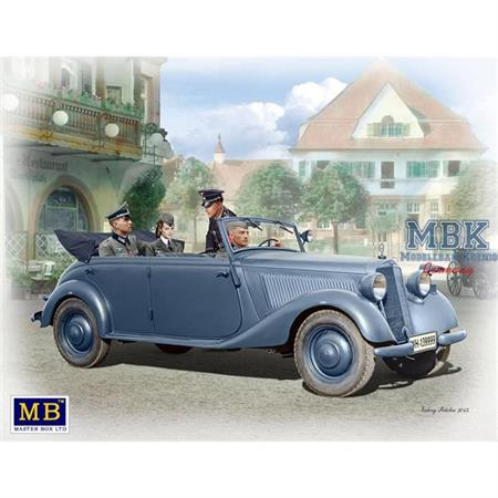 German Military Car, Type 170 V with Crew