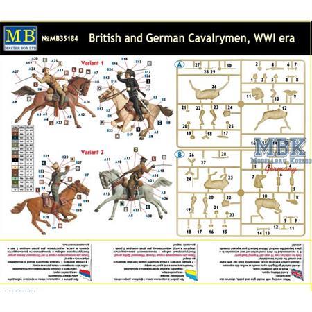 British and German Cavalrymen, WWI era