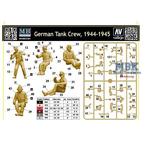 German Tank Crew 1944-45  5 Fig.