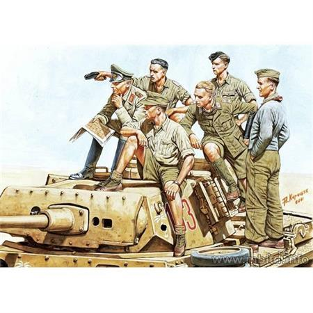 Rommel and German Tank Crew, DAK