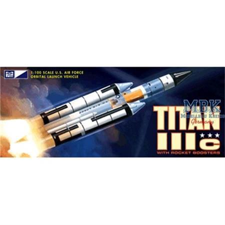 Titan Rocket IIIc + Rocket Boosters (1:100)