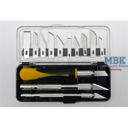Skalpellhalter-Set (3 x plus 10 Klingen in Box)