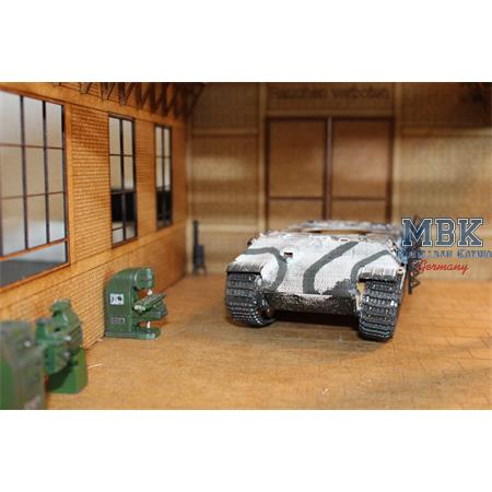 Panzerwerkstatt Groß + Kran / big  Workshop