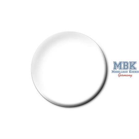 Weiß, seidenmatt (Emaille)