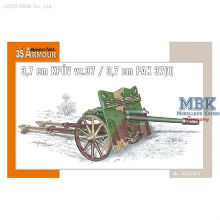 Kanón 3,7cm KPUV vz.37  /  3,7cm PaK 37(t)
