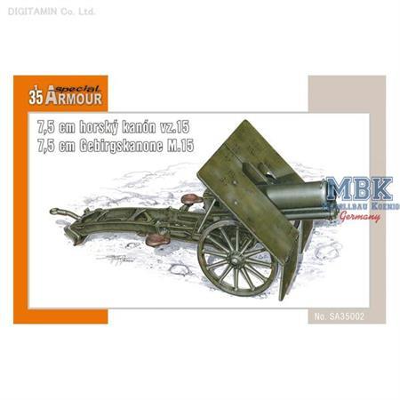 7,5cm horský kanon vz.15 /7,5cm Gebirgskanone M.15