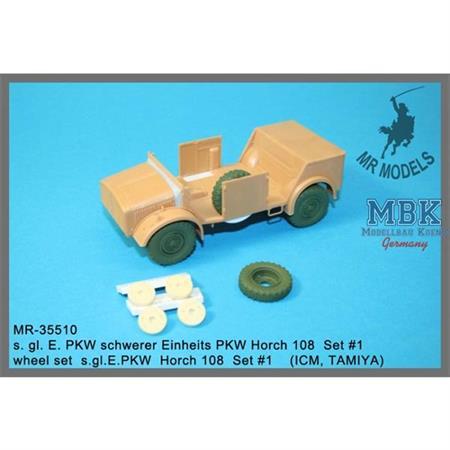 Räder/ Wheels for Horch 108 Set #1 ICM, TAMIYA