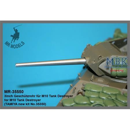 3inch Geschützrohr für M10 Tank Destroyer Tamyia